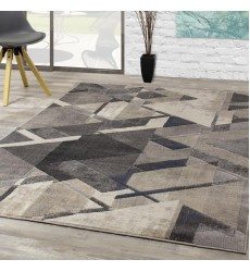 Kalora - 6x8 Alida Cream Grey Triangle Shift Rug (B881/5262 156230)