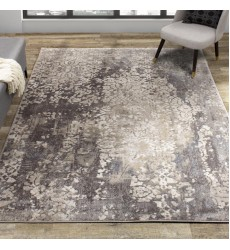 Kalora - 6x8 Alida Grey Beige Well-Worn Wall Etching Rug (B886/5232 156230)