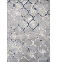 Kalora - 8x11 Alida Grey Blue Reflective Ogee Rug (B887/5323 244320)