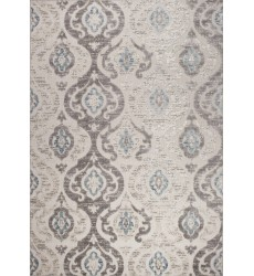 Kalora - Alta Cream Grey Intricate Ogee Pattern Rug (B868/9354 60110)