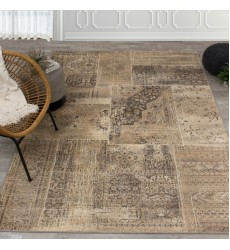 Kalora - Antika Brilliant Beige Patchwork Floor Cloth Rug (H290/114 200300)