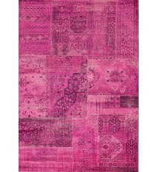 Kalora - Antika Brilliant Pink Patchwork Floor Cloth Rug (H290/116 200300)