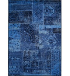 Kalora - 7x10 Antika Brilliant Navy Patchwork Floor Cloth Rug (H290/117 200300)