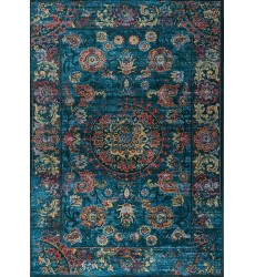 Kalora - 7x10 Antika Blue/Red Vintage Inspiration Border Rug (M233/17 200300)