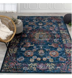 Kalora - 2x4 Antika Blue/Red Vintage Inspiration Border Rug (M233/17 67115)