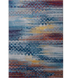 Kalora - Antika Blue Red Distressed Chevron Rug (M235/16 170240)