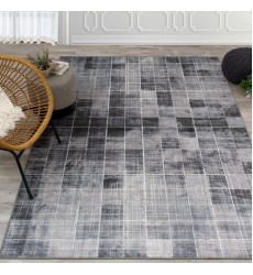 Kalora - Antika Grey Distressed Squares Rug (M817/33 170240)