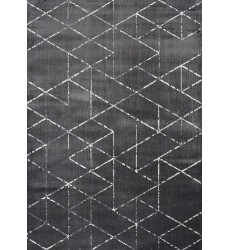 Kalora - 7x10 Antika Black Cream Cube Triangle Rug (M830/37 200300)