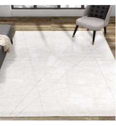 Kalora - 7x10 Antika Cream Grey Crossing Lines Rug (N402/48 200300)