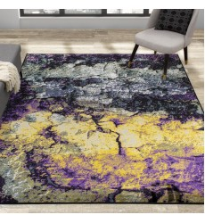 Kalora - 7x10 Antika Grey Purple Teal Yellow Rocky Rug (N427/53 200300)