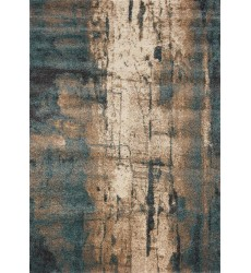 Kalora - 7x10 Ashbury Blue/Brown Watercolor Rug (6421/1V13 200290)