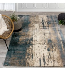 Kalora - Ashbury Blue/Brown Watercolor Rug (6421/1V13 240330)