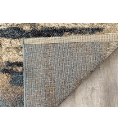 Kalora - 2x4 Ashbury Blue/Brown Watercolor Rug (6421/1V13 60110)
