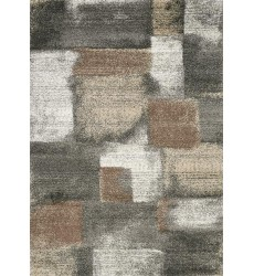 Kalora - Breeze Blue Grey Simple Patches Rug (A184/9727 60110)