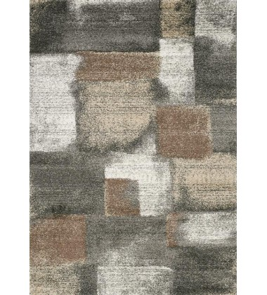 Kalora - 2x8 Breeze Blue Grey Simple Patches Rug (A184/9727 60230)