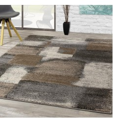 Kalora - 3x5 Breeze Blue Grey Simple Patches Rug (A184/9727 80150)