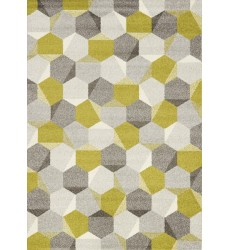 Kalora - Camino Green/Grey Honeycomb Rug (5387/8V64 60110)