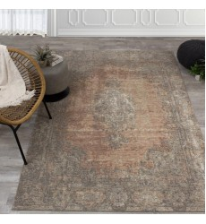 Kalora - 2x4 Cathedral Salmon/Grey Traditional Border Rug (5331/02 60110)