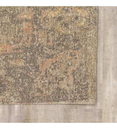 Kalora - 2x4 Cathedral Salmon/Grey Traditional Border Rug (5331/02 60110)