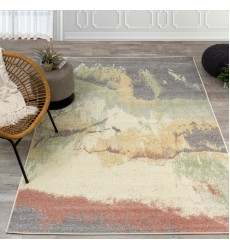 Kalora - Focus Grey Colourful Distressed Rug (C029/9636 60110)