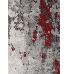 Kalora - 2x4 Freemont Grey/Red Abstract Expression Rug (A006/0323 60110)