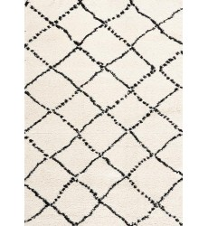 Kalora - 2x4 Maroq Black/White Diamonds Soft Touch Rug (5413/3Y18 60110)