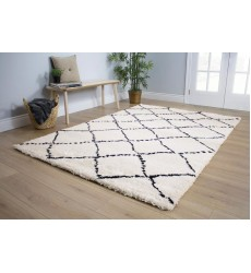 Kalora - 3x5 Maroq Black/White Diamonds Soft Touch Rug (5413/3Y18 80150)