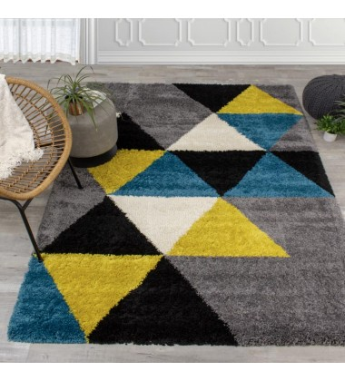 Kalora - 2x4 Maroq Colorful Triangles Soft Touch Rug (5741/3Y04 60110)