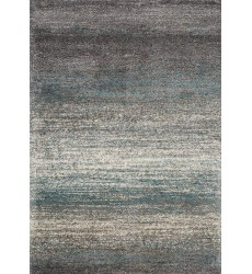 Kalora - 3x5 Maroq Grey/Blue Distressed Stripes Soft Touch Rug (6004/3A38 80150)