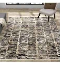 Kalora - 6x8 Nepal Beige Grey Cream Banded Rows Rug (8717/52 160230)