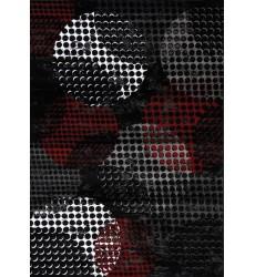 Kalora - Platinum Industrial Red Black Crate Rug (1284/81 80150)