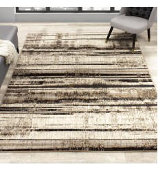 Kalora - Platinum Beige Brown Distressed Stripes Rug (3911/63 60230)