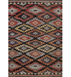 Kalora - 6x8 Sara Black Orange Bright Southwest Rug (B416/0696 160230)