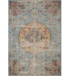 Kalora - 2x4 Sara Blue Yellow Jewel Centre Rug (B564/0848 60110)