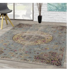 Kalora - 6x8 Sara Blue Yellow Jewel Centre Rug (B564/0848 160230)