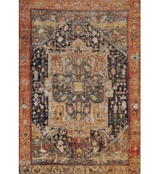 Kalora - 6x8 Sara Black Orange Brimming Courtyard Rug (B776/0655 160230)