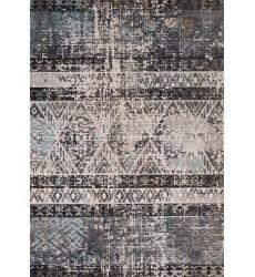 Kalora - 6x8 Sara Blue Grey Beige Trellis Banded Rug (C871/0489 160230)