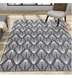 Kalora - Vista Blue Cream Shell Shapes Indoor/Outdoor Rug (9388/H831 160230)