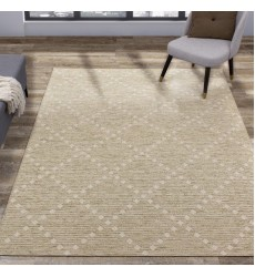Kalora - Vista Beige Cream Dot Trellis Indoor/Outdoor Rug (9406/H819 160230)