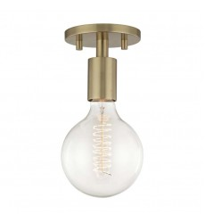 Ava 1 Light Semi Flush (H109601-AGB)