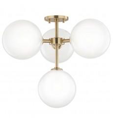 Ashleigh 4 Light Semi Flush (H122604-AGB) - Mitzi Lighting