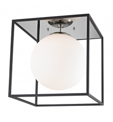 Mitzi - Aira 1 Light Large Flush Mount(H141501L-PN/BK)