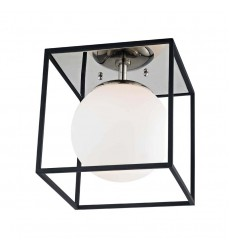 Aira 1 Light Small Flush Mount (H141501S-PN/BK)