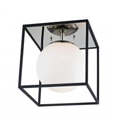 Mitzi - Aira 1 Light Small Flush Mount(H141501S-PN/BK)
