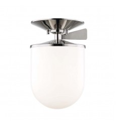 Audrey 1 Light Large Semi Flush (H214601L-PN)