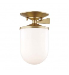 Audrey 1 Light Small Semi Flush (H214601S-AGB)
