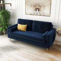 Sofa-In-A-Box Velvet Sofa Dark Blue (QH-8092A38 DARK BLUE)