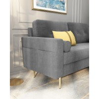 Sofa-In-A-Box Velvet Sofa Light Grey (QH-8092A38 LIGHT GREY)
