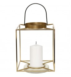 Dotti CAN152 White Marble Gold Black Candle Holder - Renwil