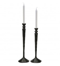 Bollington CAN156 Black  Candle Holder - Renwil